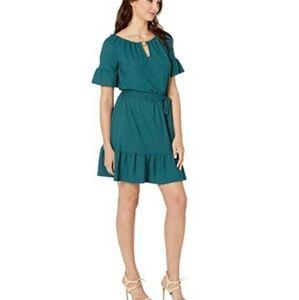 Michael Kors Cut Out Ruffle Hem Dress